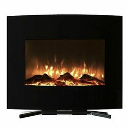 Raynor Curved Wall Mounted Electric Fireplace Remote Control