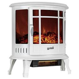 Regal Electric Fireplace - e-Flame USA 25 Inch White Portabl