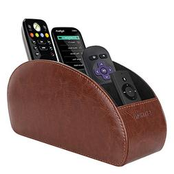 SITHON Remote Control Holder with 5 Compartments - PU Leathe