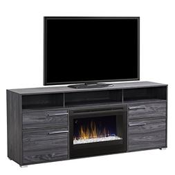Sander Media Console with 25 glass ember bed firebox-Walnut