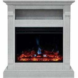 """Cambridge Sienna 34"""" Electric Fireplace Heater with White Ma"""