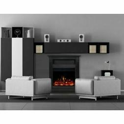 """Cambridge Sienna 34"""" Electric Fireplace Heater with Black Ma"""