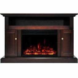 """Sorrento Electric Fireplace Heater with 47"""" Mahogany TV Stan"""