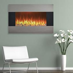 Northwest Stainless Steel Electric Fireplace with Wall Mount