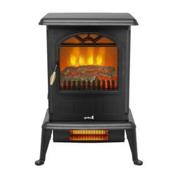 """23"""" Standing Electric Fireplace Stove 1500W Heater Realistic"""