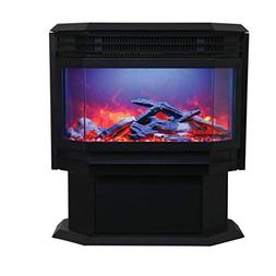 Free Standing Sierra Flame Electric Fireplace Stove by Amant