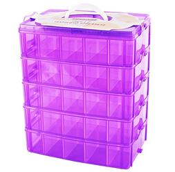 LifeSmart USA Stackable Storage Container Purple - 50 Adjust