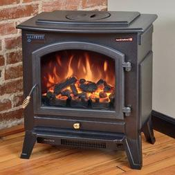 Comfort Smart Vermont Black Electric Fireplace Stove with Re