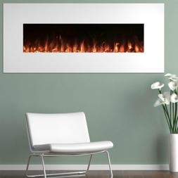 Wall Mount Electric Fireplace Heater Color Changing Flame In