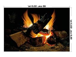 lepni.me Wall stiker Fire for Large Fireplace Fireplace Wall