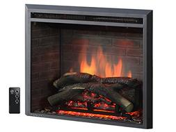 """PuraFlame 26"""" Western Electric Fireplace Insert with Remote"""