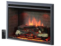 """PuraFlame 33"""" Western Electric Fireplace Insert with Remote"""