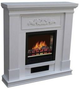 """WHITE Electric Heating Fireplace 38"""" Mantle Fireplaces Heate"""