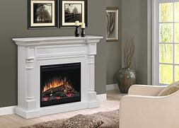 DIMPLEX Winston Mantel Electric Fireplace with LOGS White Fi